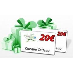 Cheque cadeau 20€ / 50€ / 70€